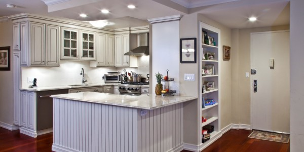 Full view of kitchen and entry – NYC Condo Reno